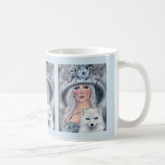 Halloween-Hexe und Wolfkaffee-Tasse durch Renee Kaffeetasse