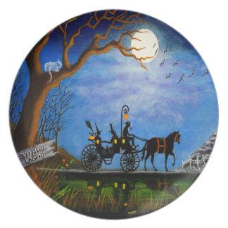 """Halloween-Hochzeits-Partyplatte """" Melaminteller"""