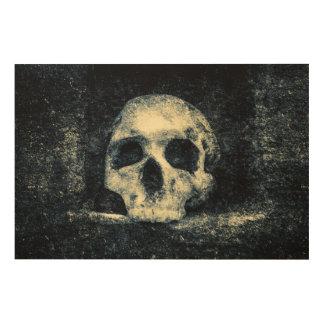 Halloween-Horror-Schädel Holzdruck