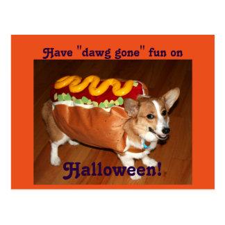 Halloween-Hund Postkarte