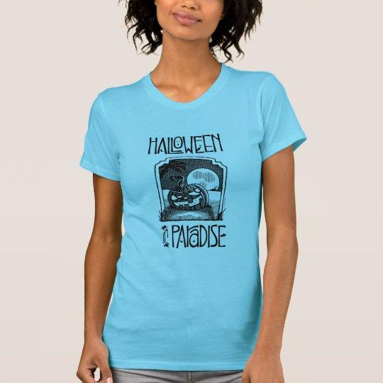 Halloween im T - Shirt der Paradies-Frauen