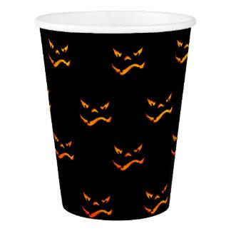 Halloween-Jack O'Lantern Grimassen-Muster Pappbecher