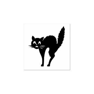 Halloween-Katzen-Gewohnheit Gummistempel