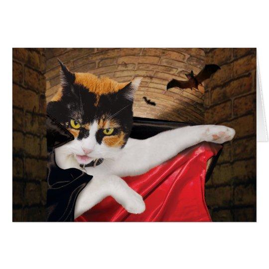 Halloween-Katzen-Karten-lustiges niedliches Karte