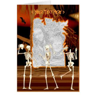 Halloween-Knochen-Spiele (Fotorahmen) Karte