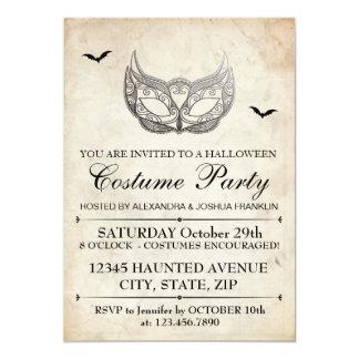 Halloween-Kostüm-Party 12,7 X 17,8 Cm Einladungskarte
