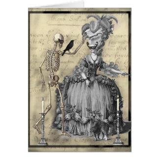 Halloween-Kostümball Karte