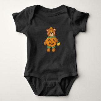 Halloween-Kürbis-Bär Baby Strampler