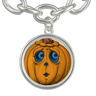Halloween-Kürbis Charm Armband