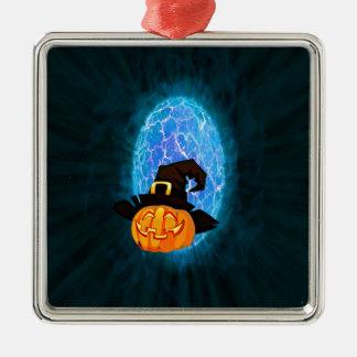Halloween-Kürbis durch Mondschein Silbernes Ornament