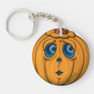 Halloween-Kürbis Einseitiger Runder Acryl Schlüsselanhänger
