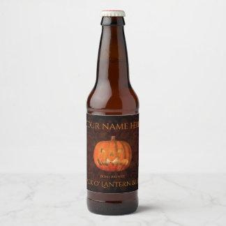 Halloween-Kürbis elegant Bierflaschenetikett