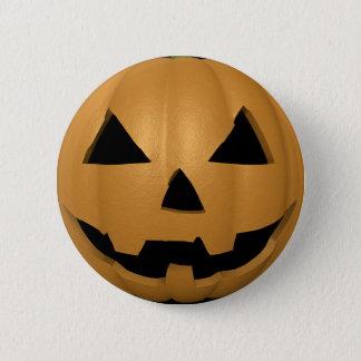 Halloween-Kürbis-Gesichts-Knopf Runder Button 5,7 Cm