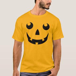 Halloween-Kürbis-Gesichts-T - Shirt