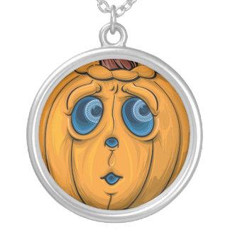 Halloween-Kürbis Halskette Mit Rundem Anhänger