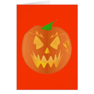 Halloween-Kürbis in der Orange Grußkarte