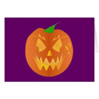 Halloween-Kürbis in lila I Grußkarte