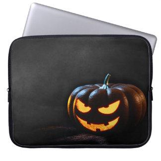 Halloween-Kürbis-Kürbislaterne gespenstisch Laptopschutzhülle