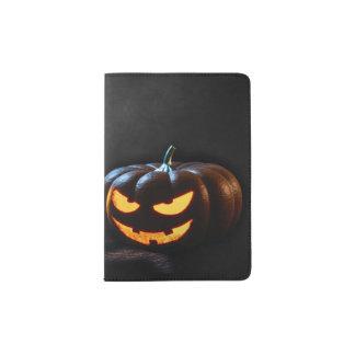 Halloween-Kürbis-Kürbislaterne gespenstisch Passhülle