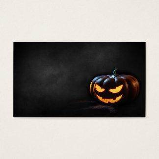 Halloween-Kürbis-Kürbislaterne gespenstisch Visitenkarte