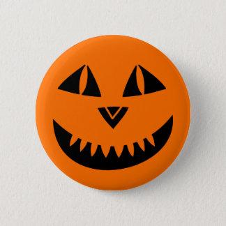 Halloween-Kürbis-Lächeln Runder Button 5,1 Cm
