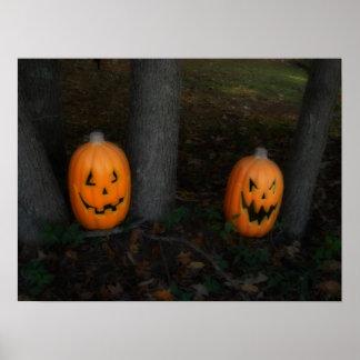 Halloween-Kürbis-Plakat Poster