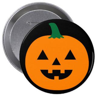 Halloween-Kürbis Runder Button 10,2 Cm