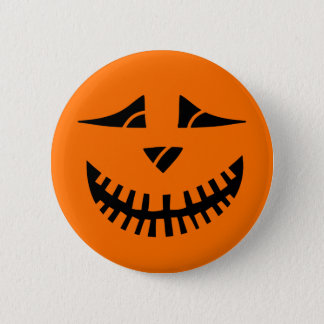 Halloween-Kürbis Runder Button 5,1 Cm