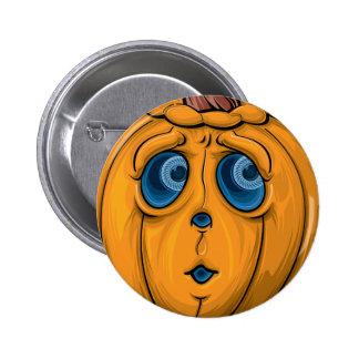 Halloween-Kürbis Runder Button 5,7 Cm