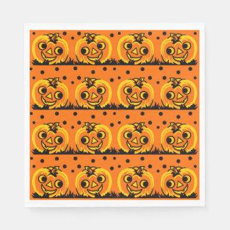 Halloween-Kürbis-Vintage Art-Servietten Papierserviette
