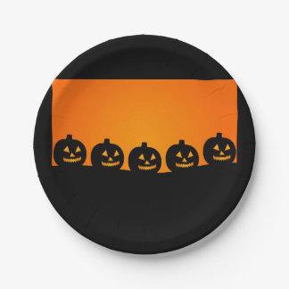 Halloween-Kürbise Pappteller 17,8 Cm