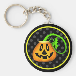 Halloween-Kürbislaterne-Kürbis Keychain Schlüsselanhänger