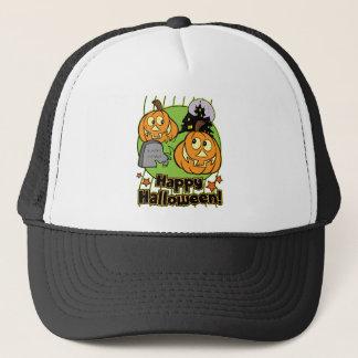Halloween-Kürbislaterne-Spuk Haus Truckerkappe