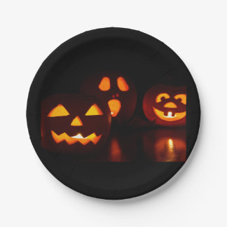 Halloween-Kürbislaternen Pappteller 17,8 Cm
