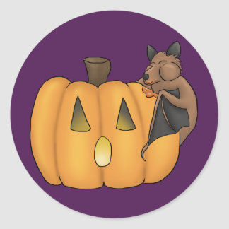 Halloween-Leckerei-Schläger-Aufkleber Runder Aufkleber