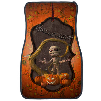 Halloween, lustige Mama mit Kürbis Autofußmatte