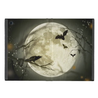 Halloween-Mond-gespenstische Krähen iPad Mini Hüllen