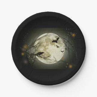 Halloween-Mond Pappteller