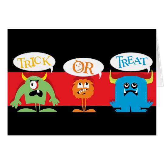 Halloween-Monster-Karte für Kinder Grußkarte