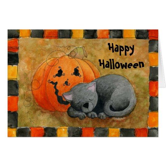 Halloween-Nickerchen-Karte Grußkarte