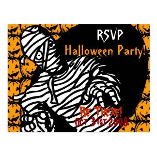 Halloween-Party-Einladung Postkarte
