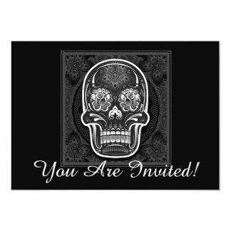 Halloween-Party-Einladungs-Karten-Schwarz-Schädel 12,7 X 17,8 Cm Einladungskarte