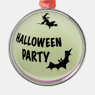 Halloween-Party-Ikone Silbernes Ornament