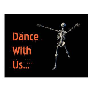 Halloween-Party-Postkarten-Einladung Postkarte