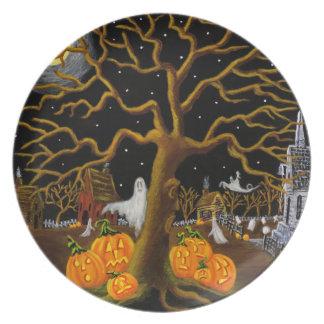 """Halloween-Platte """"hörten Sie etwas? """" Essteller"""