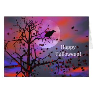 Halloween-Raben-Nacht Karte