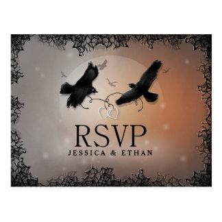 Halloween Ravens Hochzeit UAWG, das Postkarte