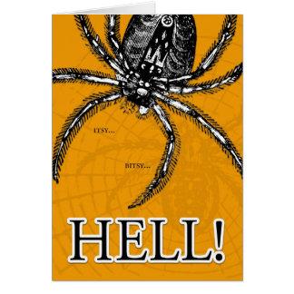 Halloween - riesige Spinne Karte
