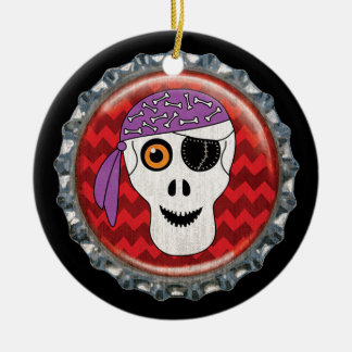 Halloween-Schädel-Flaschenkapsel-Bild Keramik Ornament