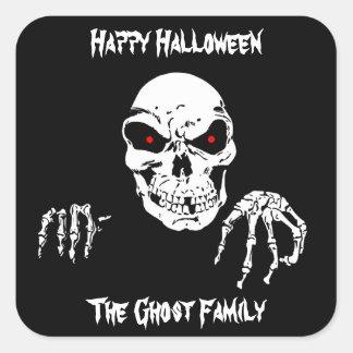 Halloween-Schädel Quadratischer Aufkleber